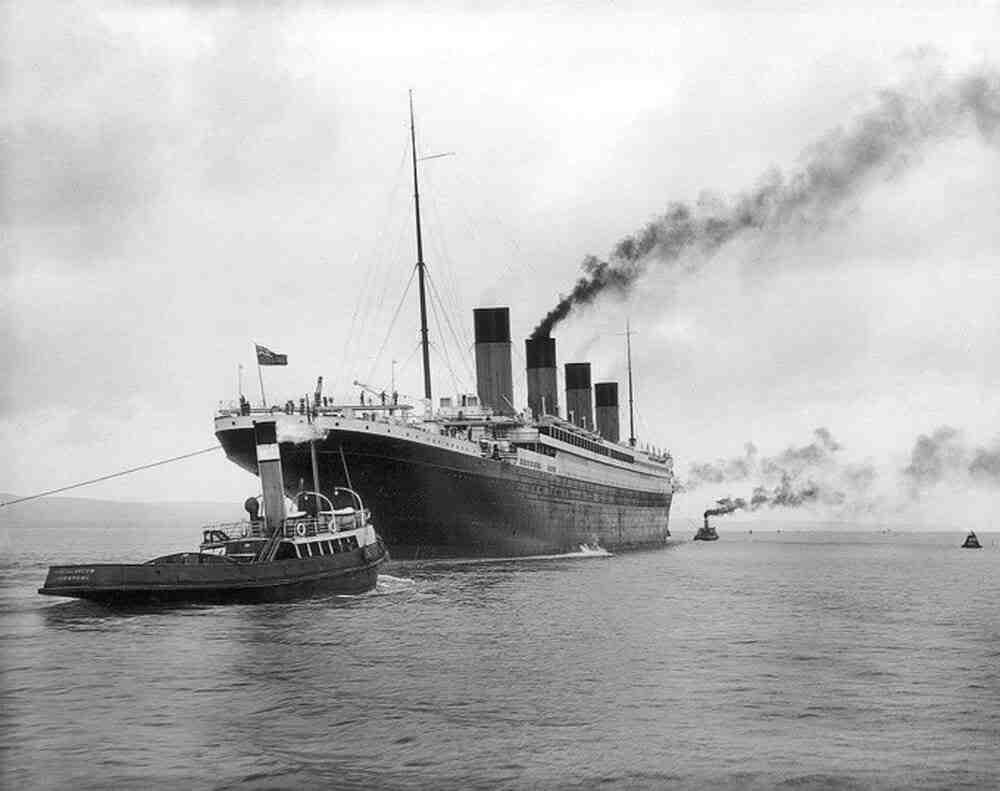 Où est mort le Titanic?